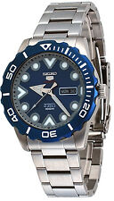 Seiko 5 Sports SRPA09 Men's Stainless Steel  Blue Dial 100M Automatic Watch