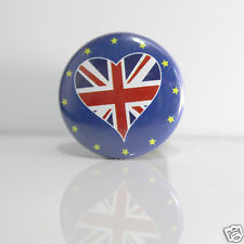 2 Badges Europe [25mm] PIN BACK BUTTON Royaume-Uni
