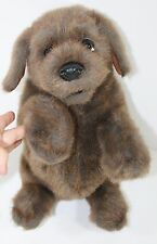 FOLKMANIS FOLKTAILS Begging Sitting Stuffed Plush Brown PUPPY Dog PUPPET 15""