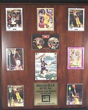 Shaquille O'Neal Limited Edition Sport Card Plaque By The Score Board - Mint