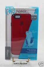 Speck Candyshell Military Apple iPhone 6S 6 Protective Case Pomodoro Red/Black