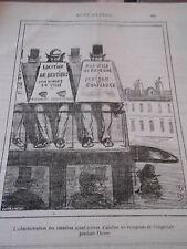 Caricature 1877 Location de dentiers pour diners en ville