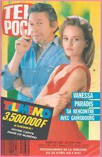 ▬►Télé Poche 1263 de 1990 VANESSA PARADIS_GAINSBOURG_JOAN BAEZ_GRETA GARBO