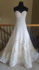 NEW! Retail $4500 Watters Lillis 9033B Ivory Lace 2016 Wedding Dress Size 8