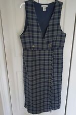 Women's Portraits by Northern Isles Vintage Kilt Style Dress Plaid Plus Size 16