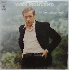 Yves Montand - Ses Plus Grands Success LP 1977 French music Rare Israeli press