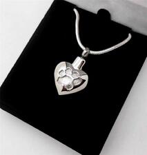 Pet Cat Dog Paw Print Heart Memorial Cremation Cinerary Keepsake Urn Pendant NIB