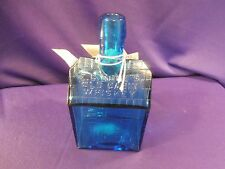 Light Blue Repro E.G. Booz's Old Cabin Whiskey Bottle With Paperwork