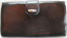 -AUTHENTIQUE portefeuille-porte-monnaie LONGCHAMP  cuir (T)BEG vintage