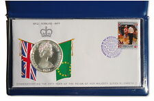 1977 Cook Islands Silver Proof $25 Queens Silver Jubilee FDI Cover