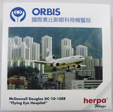 NEW HERPA WINGS 500128 ORBIS MCDONNELL DOUGLAS DC-10-10ER FLYING EYE HOSPITAL