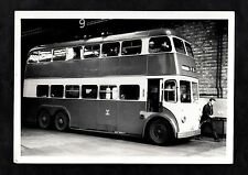 C1960s Photo Image of a double decker trolley bus
