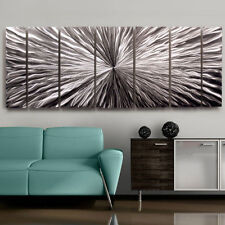 Large Contemporary Abstract Metal Wall Art Sculpture Silver Original Jon Allen