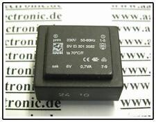 HAHN PRINT TRAFO 230V/6V 0,7VA 32x27x15mm 1 Stück