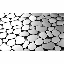Martini Mosaic Pebble Stainless Steel 12x12-inch Tiles (Set of 7)