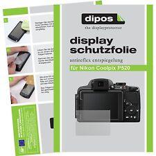 6x dipos Nikon Coolpix P520 Protector de Pantalla protectores mate