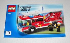 LEGO CITY 7208 libretto N. 2 POMPIERI Instruction Manual Booklet Only MANUALE