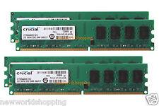 Crucial 8GB 4X 2GB PC2-6400 DDR2-800MHz DIMM Dekstop 240pin NON-ECC Memory RAM