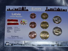 Moneda – euro-monedas de curso conjunto Letonia 2014, Latvia 2014, nuevo, embalaje original