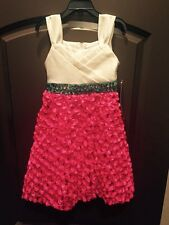 NWT Rare Editions Size 6 Pink Turquoise Boutique Easter Dress