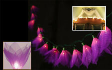 PURPLE LEAF/BODHI FLOWERS STRING PARTY,FLORAL,DECORATIONS,TEEN GIRL ROOM LIGHTS