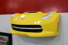 2015 Chevrolet Corvette Yellow C7 Painted Resin Wall Decor w Lights 7580-110