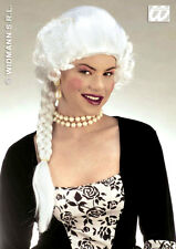 MARIE ANTOINETTE WHITE FANCY DRESS WIG GEORGIAN REGENCY LADIES WIG & LONG PLAIT