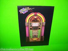 THE BUBBLER SERIES II By ROWE 1980s ORIGINAL JUKEBOX PHONOGRAPH SALES FLYER