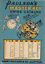 Paulson's Master Key Swiss Catalog 1950 / PDF Searchable!