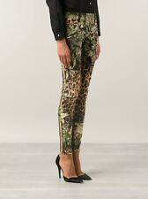 $2K BALMAIN PARIS Leopard JUNGLE Print DENIM Skinny LOW RISE Jeans ZIP ANKLE