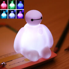 Big Hero 6 Baymax Doll 7 Colors Changing Night Light Lamp Kids Boy Girl Xmas Toy