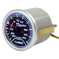 2Inch 52mm 0 -30in.Hg 0 -35PSI White Light Led Car Motor Auto Turbo Boost Gauge