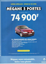 Publicité Advertising 1997  RENAULT MEGANE 5 portes