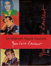 1 COFFRET LE CEDEROM HAUTE COUTURE YVES SAINT LAURENT / CD-ROM PC MAC / Mode