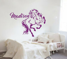 Name Wall Decals Horse Decal Vinyl Sticker Kids Nursery Bedroom Art Decor MN1017