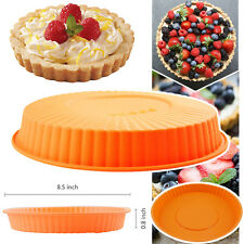 "8.5"" Round Silicone Cake Mold Pan Muffin Pizza Pastry Baking Tray Mould Bakeware"