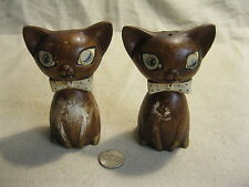 Vintage Cat Hologram Eyes Salt and Pepper Shakers Lego Noise Maker            73