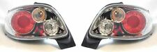 Peugeot 206 cc 2000-6/2003 Chrome Lexus Rear Tail Lights Lamps 1 Pair O/S & N/S