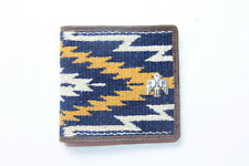 Ralph Lauren RRL Indian Print Leather and knit Bifold Wallet