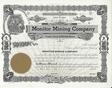 MONITOR MINING COMPANY......UNISSUED STOCK CERTIFICATE