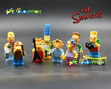 Lot of 8 PCS  The Simpsons  Minifigures building toys all new in bags