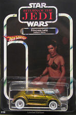 Hot Wheels CUSTOM VW BEETLE Star Wars Carrie Fisher Princess Leia Tribute RR !