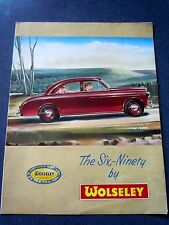1956 WOLSELEY Six-Ninety Original Brochure/Poster- VG+