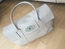 Classic Off White Mulberry Bayswater Bag. Small Marks Outside/Corners. Pen Mark