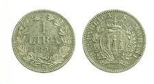 pcc1644_13) Repubblica San Marino - Vecchia monetazione 1 Lira 1898  - rara