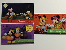 THREE WALT DISNEY WORLD HALLOWEEN 3 GIFT CARDS, NO CASH VALUE. mix and match!