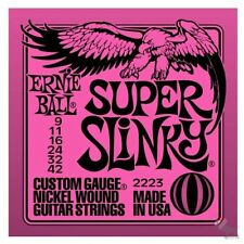 Ernie Ball 2223 Super Slinky cordes pour guitare électrique 9-42 - free médiators