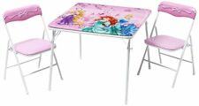 Disney Princess Metal Table and Chairs Set Folding Children Kids NEW FREE P&P