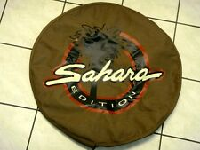 00JEEP WRANGLER TJ ZAHARA 1997 - 2006 REAR SPARE TIRE COVER PROTECTOR TAN COLOR