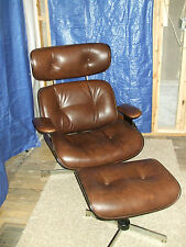 VINTAGE   PLYCRAFT CHAIR AND  OTTOMAN FOOT STOOL